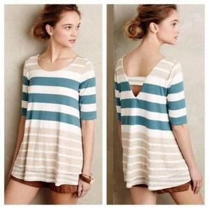 ANTHROPOLOGIE {Puella} Striped Swing Tee Small